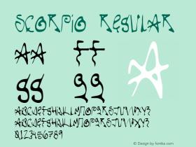Scorpio Regular Version 1.000;PS 001.000;hotconv 1.0.38 Font Sample