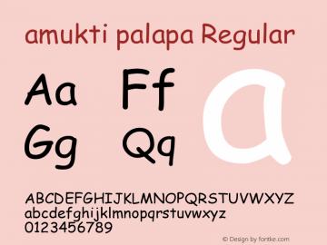 Amukti Palapa Font Family Amukti Palapa Uncategorized Typeface Fontke Com For Mobile