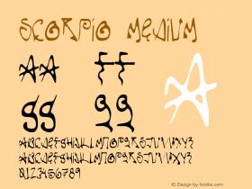 Scorpio Medium 001.000 Font Sample