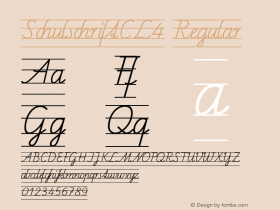 SchulschriftCL4 Regular Macromedia Fontographer 4.1 12/26/97 Font Sample