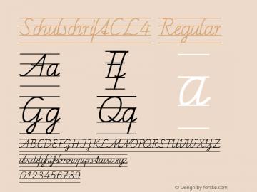SchulschriftCL4 Regular Macromedia Fontographer 4.1 12/26/97图片样张