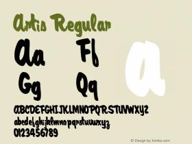 Artis Regular Altsys Metamorphosis:11/13/94 Font Sample