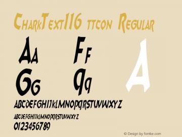 CharkText116 ttcon Regular Altsys Metamorphosis:10/27/94图片样张