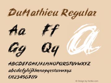 DuMathieu Regular Macromedia Fontographer 4.1 12/26/97图片样张