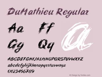 DuMathieu Regular 001.000图片样张