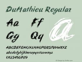 DuMathieu Regular 001.000 Font Sample
