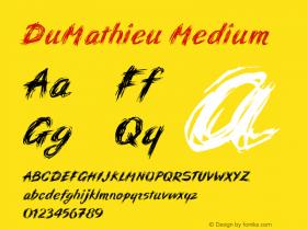 DuMathieu Medium 001.000 Font Sample