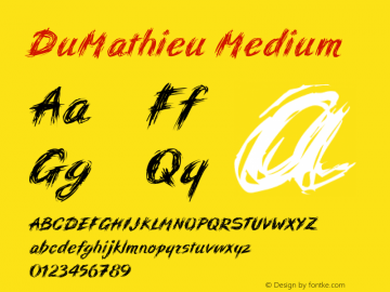 DuMathieu Medium 001.000图片样张