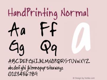 HandPrinting Normal 1.0 Thu Jun 24 19:03:34 1993 Font Sample
