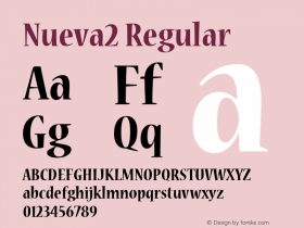 Nueva2 Regular Macromedia Fontographer 4.1 12/19/97 Font Sample