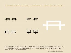 RamizRegularA Regular Macromedia Fontographer 4.1 12/19/97 Font Sample