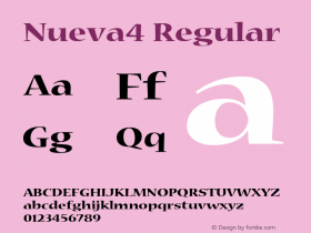 Nueva4 Regular Macromedia Fontographer 4.1 12/19/97图片样张