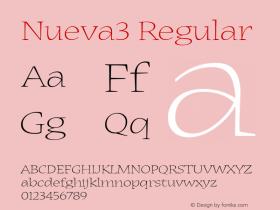 Nueva3 Regular Macromedia Fontographer 4.1 12/19/97 Font Sample