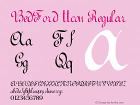 BedFord ttcon Regular Altsys Metamorphosis:10/27/94 Font Sample