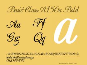 BasicClassA156a Bold Altsys Metamorphosis:10/28/94 Font Sample