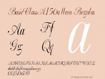 BasicClassA156a ttcon Regular Altsys Metamorphosis:10/27/94 Font Sample
