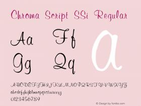 Chroma Script SSi Regular 001.001 Font Sample