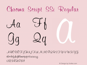 Chroma Script SSi Regular 001.001图片样张