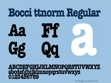 Bocci ttnorm Regular Altsys Metamorphosis:10/27/94图片样张