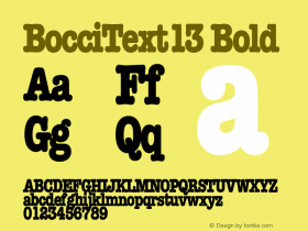 BocciText13 Bold Altsys Metamorphosis:10/28/94图片样张