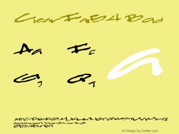 ClearFall54 Bold Altsys Metamorphosis:10/28/94 Font Sample