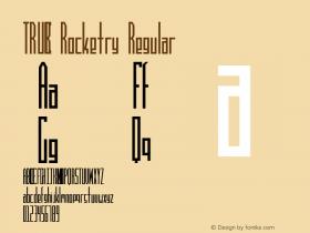 TRUCK Rocketry Regular truck.fonts@sympatico.ca Font Sample