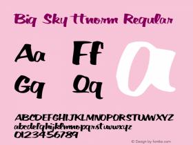 Big Sky ttnorm Regular Altsys Metamorphosis:10/27/94图片样张