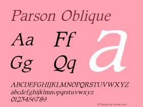 Parson Oblique 1.0 Sat Oct 01 15:57:03 1994图片样张