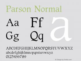 Parson Normal 1.0 Sat Oct 01 15:55:35 1994图片样张