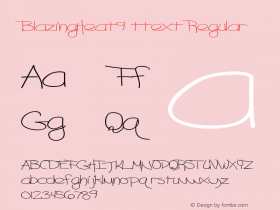 BlazingHeat9 ttext Regular Altsys Metamorphosis:10/28/94图片样张