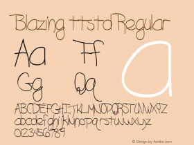 Blazing ttstd Regular Altsys Metamorphosis:11/12/94图片样张