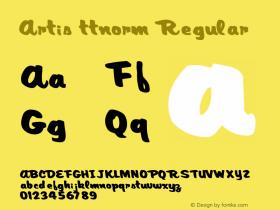 Artis ttnorm Regular Altsys Metamorphosis:10/27/94 Font Sample