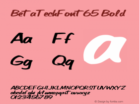 BetaTechFont65 Bold Altsys Metamorphosis:10/28/94图片样张