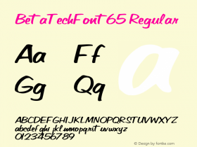 BetaTechFont65 Regular Altsys Metamorphosis:10/27/94 Font Sample
