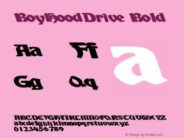 BoyHoodDrive Bold Altsys Metamorphosis:10/28/94 Font Sample