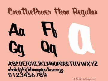 CreativePower ttcon Regular Altsys Metamorphosis:10/27/94 Font Sample