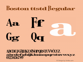 Boston ttstd Regular Altsys Metamorphosis:11/12/94 Font Sample