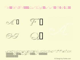 WrennInitialsEmbossed Regular Macromedia Fontographer 4.1 12/20/97 Font Sample
