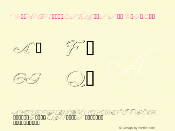 WrennInitialsEmbossed Regular Macromedia Fontographer 4.1 12/20/97图片样张
