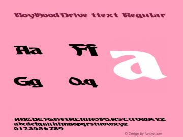 BoyHoodDrive ttext Regular Altsys Metamorphosis:10/28/94图片样张
