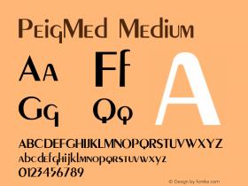PeigMed Medium Macromedia Fontographer 4.1 12/20/97图片样张