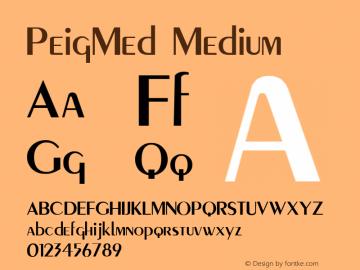 PeigMed Medium Macromedia Fontographer 4.1 12/20/97 Font Sample