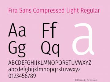 Fira Sans Compressed Light Font,Fira Sans Compressed Font