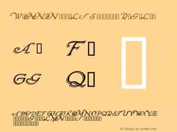 WrennInitialsShadowed Regular Macromedia Fontographer 4.1 12/20/97 Font Sample