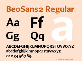 BeoSans2 Regular Macromedia Fontographer 4.1 12/25/97图片样张