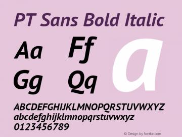 PT Sans Bold Italic Version 2.003 Font Sample