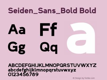 Seiden_Sans_Bold Bold Version 1.0图片样张
