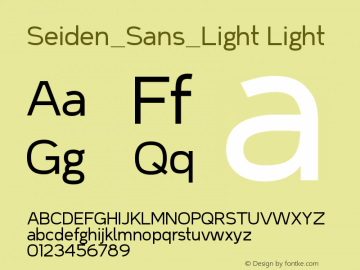 Seiden_Sans_Light Light Version 1.0图片样张