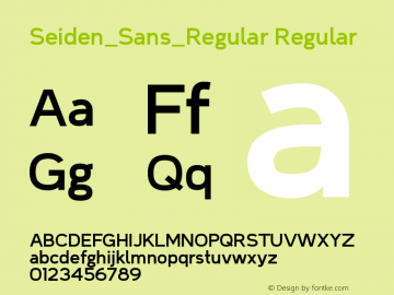 Seiden_Sans_Regular Regular Version 1.0图片样张