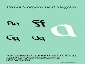 BrainChildFont ttext Regular Altsys Metamorphosis:10/28/94图片样张